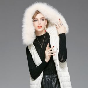 AEROPOSTALE Faux Fur Detachable Hood Puffer Vest